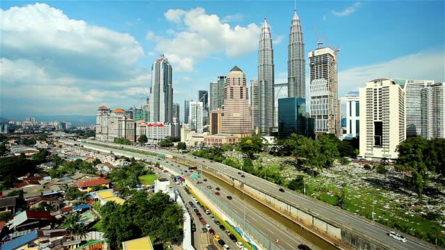 View of Kuala Lumpur Cityscape (KLCC) & Petronas Towers, Kuala Lumpur, Malaysia.