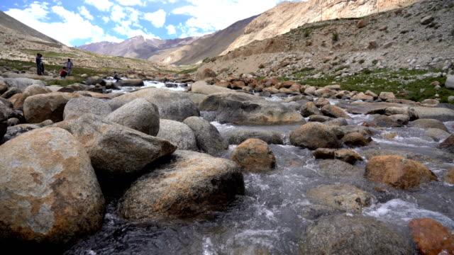 view of ladakh, india. - jammu e kashmir video stock e b–roll