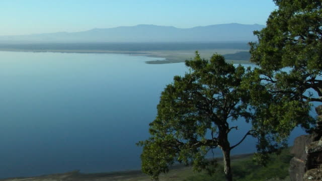 WS, HA, View of Lake Nakuru, Lake Nakuru National Park, Rift Valley, Kenya