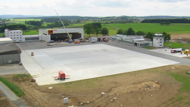 ws aeiral pov view of landing on helipad at hof/ germany - helicopter landing pads stock videos and b-roll footage