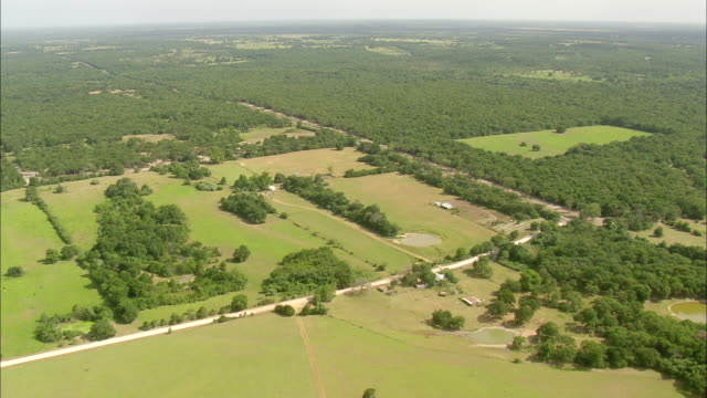 MS AERIAL View of landscape at countryside / Texas, United States