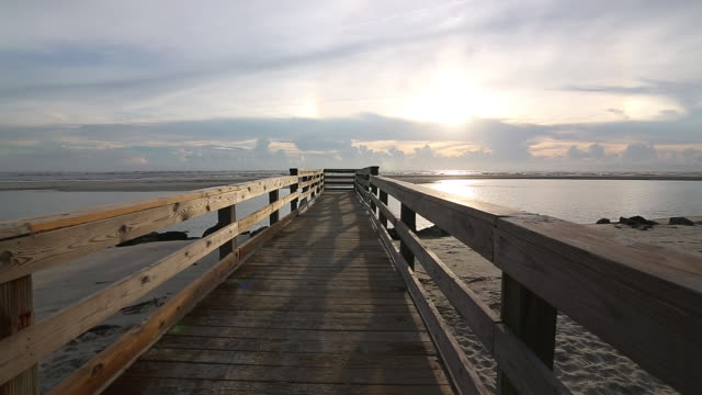 WS View of landscape of pier / St. Simons Island, Georgia, United States