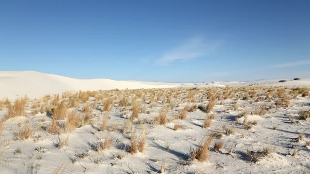WS PAN View of Landscape of white sands / Santa Fe, New Mexico, United States