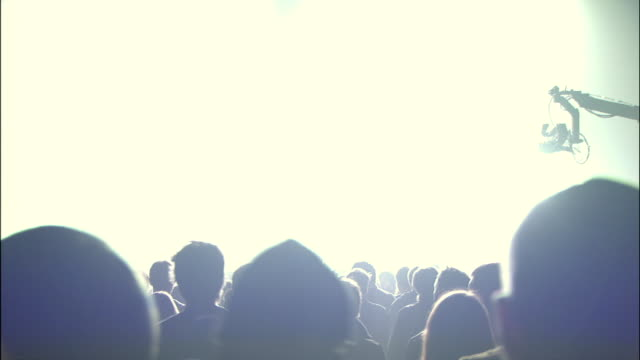ms cs view of large crowd at arena show / london, united kingdom - popular music concert stock videos & royalty-free footage