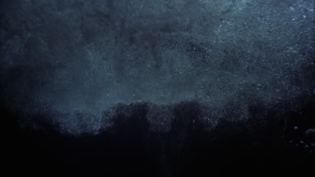 cu view of large eruption of bubbles in underwater - underwater stock videos & royalty-free footage