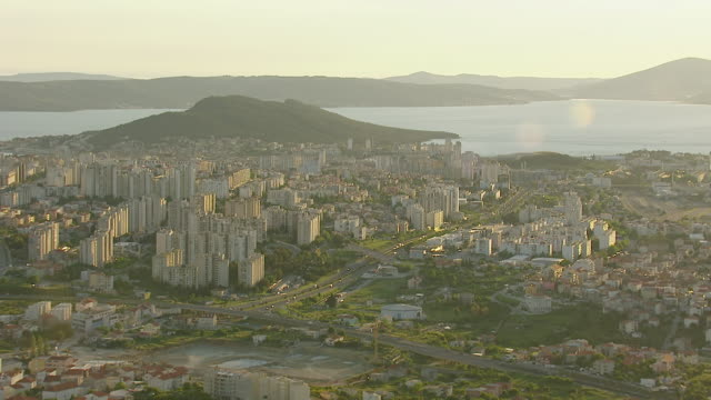 WS AERIAL View of largest coastal city on eastern shores of Adriatic sea / Split, Split Dalmatia County, Croatia