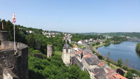 ws view of le chateau des ducs de lorraine / sierck les bains, lorraine, france - lorraine stock-videos und b-roll-filmmaterial