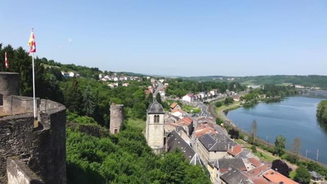 ws view of le chateau des ducs de lorraine / sierck les bains, lorraine, france - lorraine stock videos & royalty-free footage