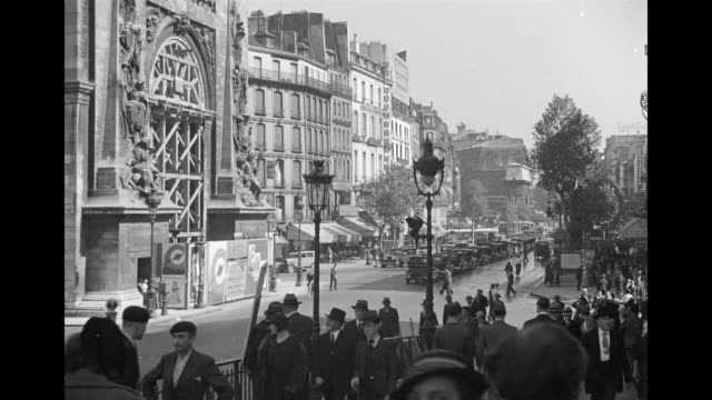 stockvideo's en b-roll-footage met ms view of les invalides, madeleine / paris, france - 1930