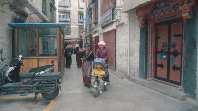 view of lhasa city scene,tibet,china. - traditionally tibetan stock videos & royalty-free footage