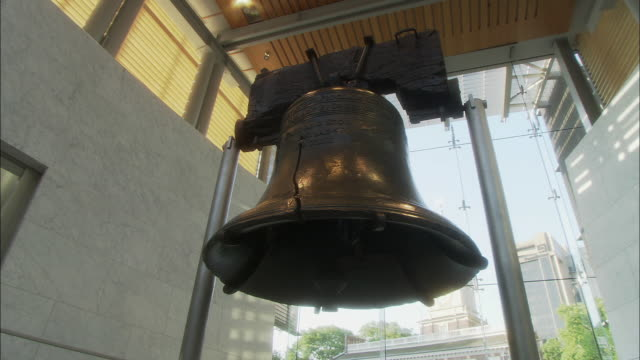 ms zi view of liberty bell / philadelphia, pennsylvania, usa - independence hall stock videos and b-roll footage