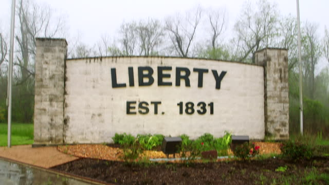 MS TD View of Liberty sign / Liberty County, Texas, United States