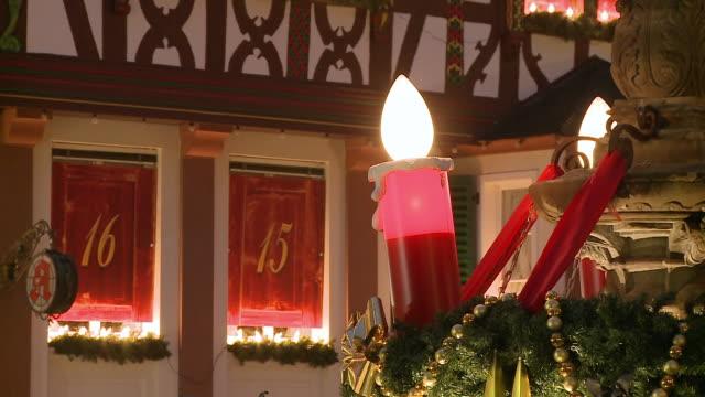 ms view of light candle / bernkastel-kues, rhineland-palatinate, germany - 雑貨点の映像素材/bロール