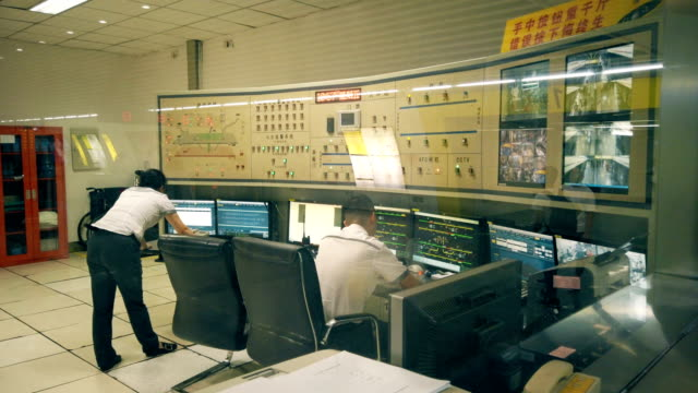 view of light rail control room,chongqing,china. - network security stock videos & royalty-free footage