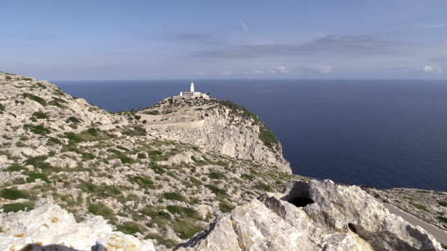 WS View of lighthouse at Cap de Formentor / Mallorca, Spain