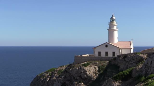 MS View of lighthouse at Punta de Capdepera / Mallorca, Spain