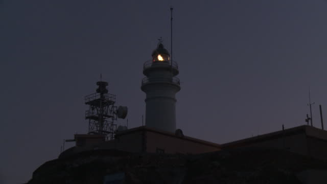 ms view of lighthouse / cabo de gata, andalusia, spain - lighthouse stock videos & royalty-free footage