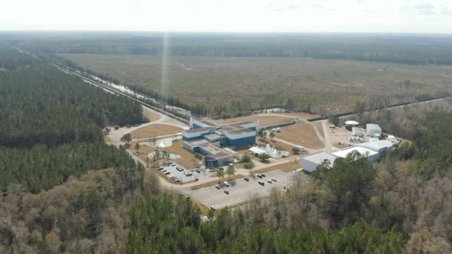 ws aerial view of ligo livingston observatory / louisiana, united states - atom stock videos & royalty-free footage