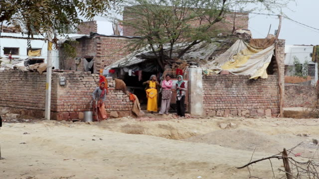 ws pan td view of living in village in india / murshidabad, west bengal, india  - west bengal stock videos and b-roll footage