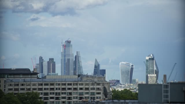 a view of london from knightsbridge - general view stock videos & royalty-free footage