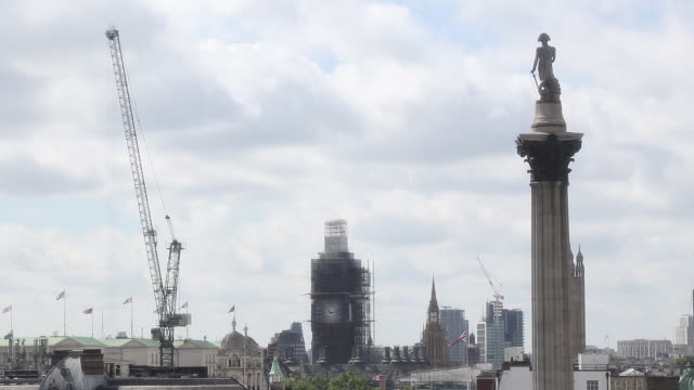 view of london - big ben stock-videos und b-roll-filmmaterial
