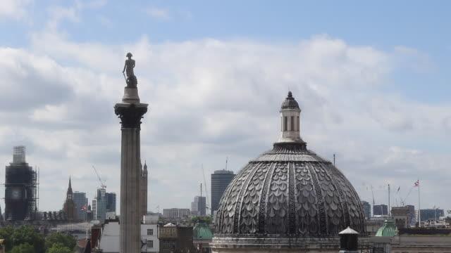 view of london - トラファルガー広場点の映像素材/bロール