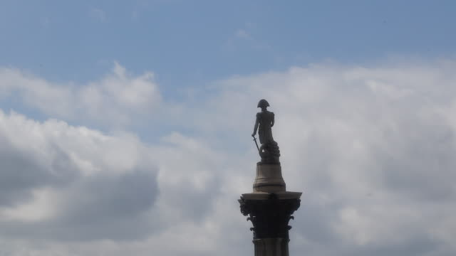 view of london - nelson's column stock videos & royalty-free footage