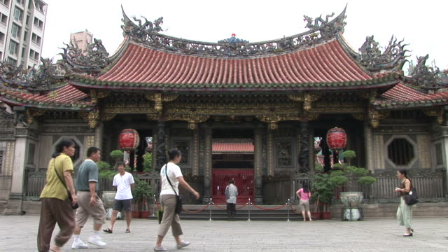 View of Longshan Temple in Taipei Taiwan
