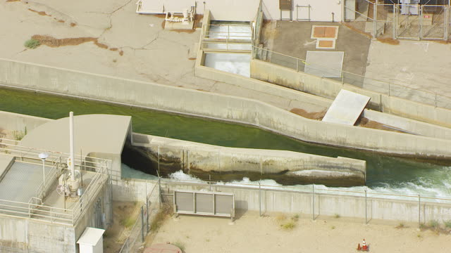 ws aerial pov view of los angeles aqueduct / los angeles, california, united states - aqueduct stock videos and b-roll footage