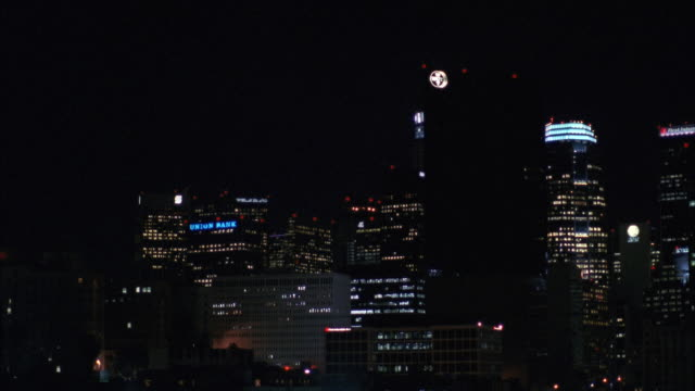 ws view of los angeles downtown skyline / los angeles, california, united states - 1991 stock videos and b-roll footage