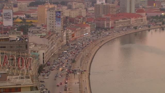 WS View of Luanda bay at Evening / Luanda, Angola