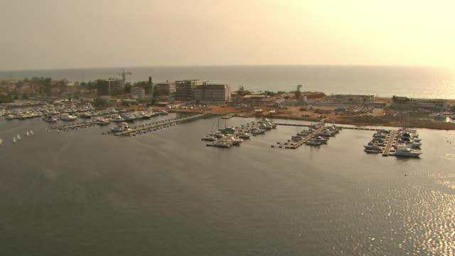 WS AERIAL View of Luanda Island / Luanda, Angola