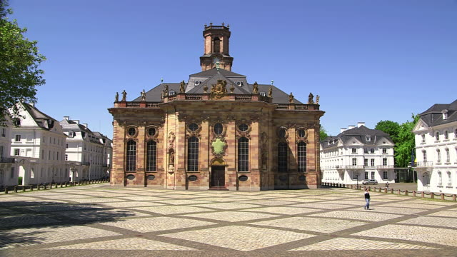 WS View of Ludwig church and Ludwig square / Saarbruecken, Saarland, Germany