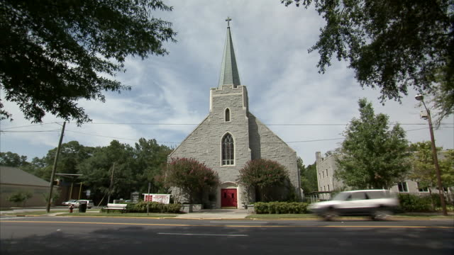 MS View of Lutheran church  / USA