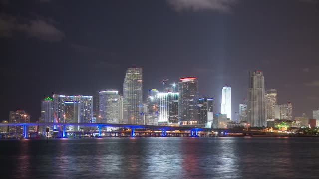 stockvideo's en b-roll-footage met view of macarthur bridge usa - macarthur causeway bridge