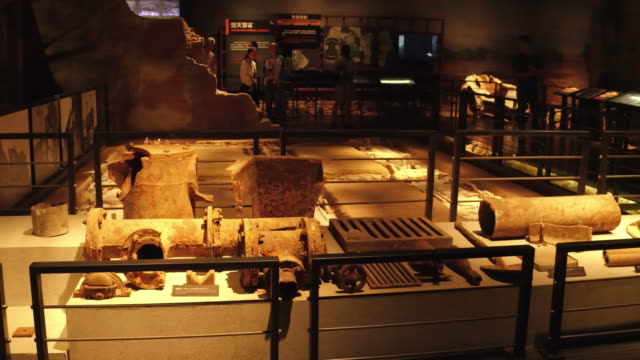 A view of main building's wreckage of germ factory in the Exhibition Hall Of Crime Evidence Of Japanese Germ Factory on May 19 2017 in Harbin China...