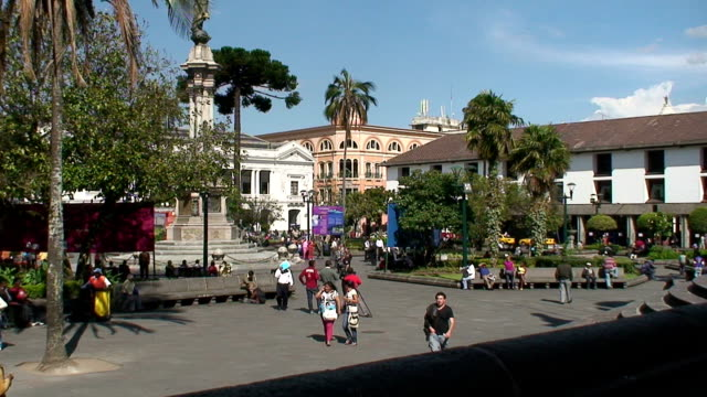 view of main square plaza de la independencia (plaza grande). quito, ecuador - ecuador stock videos & royalty-free footage