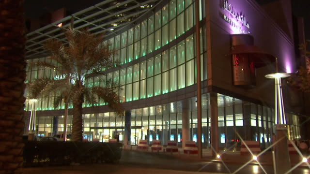 ws tu view of mall with faisaliah tower in background / riyadh city, riyadh, saudi arabia  - riyadh stock videos & royalty-free footage