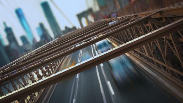 Blick auf Manhattan von der Brooklyn Bridge
