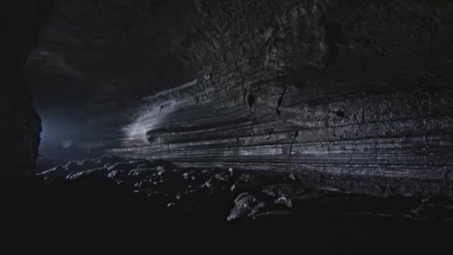 View of Manjanggul (Korea Natural Monument 98, cave) traces of lava flow