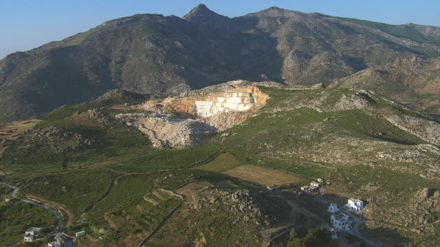 WS AERIAL ZI View of marble quarrie near naxos / Naxos, Cyclades, Greece