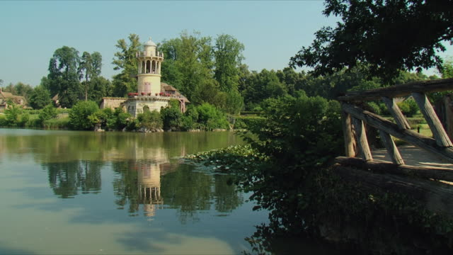 ws view of marie antoinette garden / versailles, ile de france, france - marie antoinette stock videos and b-roll footage