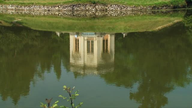 vidéos et rushes de ws tu view of marie antoinette garden / versailles, ile de france, france - château de versailles