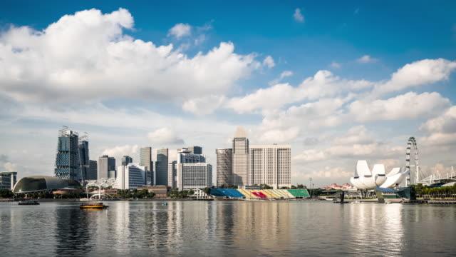 T/L MS View of Marina Bay / Singapore