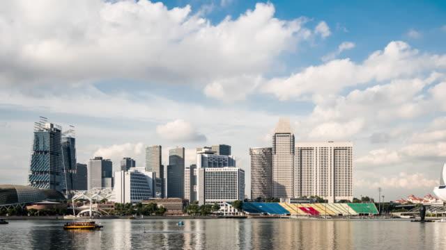 T/L MS PAN View of Marina Bay / Singapore