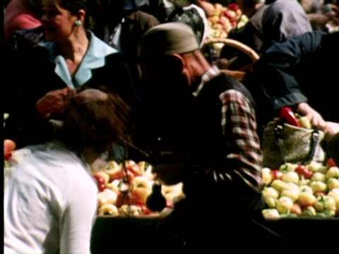 ms view of market, belgrade, yugoslavia / audio - serbia stock videos & royalty-free footage