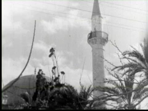 stockvideo's en b-roll-footage met b/w view of  masjid, palestine / audio - palestijnse cultuur
