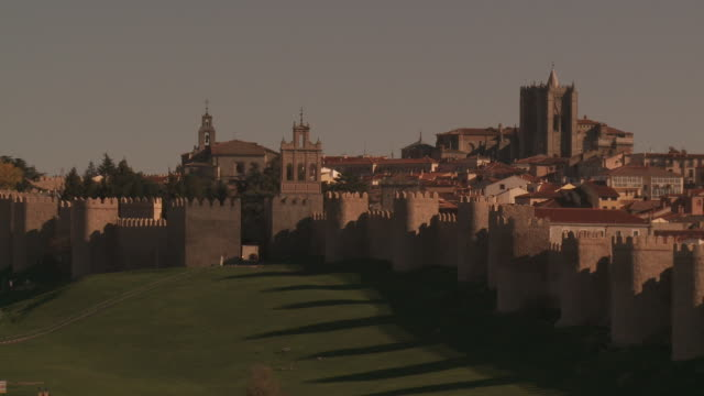 View of medieval city walls