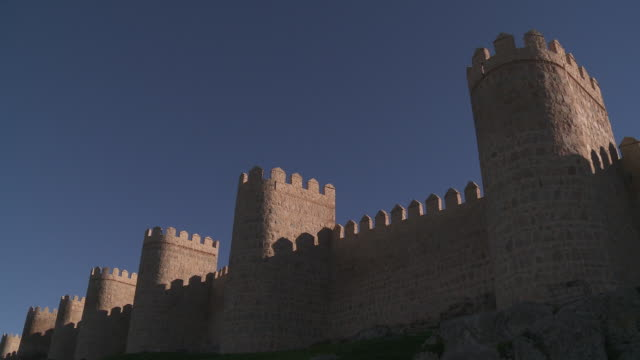 view of medieval city walls - repetition stock videos & royalty-free footage