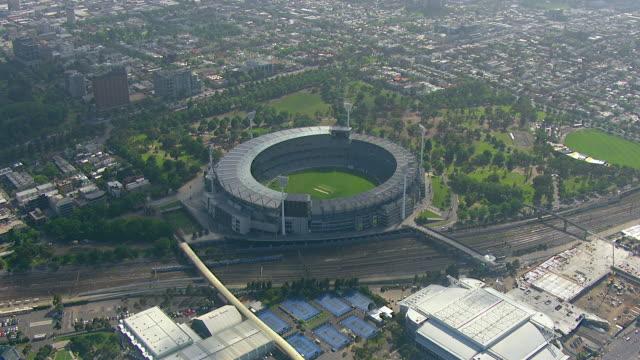 WS AERIAL TS ZI View of Melbourne cricket stadium / Melbourne, Victoria, Australia